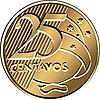 Vector clipart: Brazilian twenty-five centavo coin