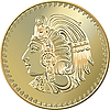 Vector clipart: Mexican coin with the image of the Indian