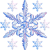 Transparent snowflake | Stock Vector Graphics