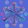 Vector clipart: blue transparent snowflake