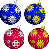 Set of Christmas balls | Stock Vector Graphics