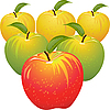Vector clipart: set of colorful apples