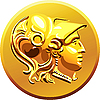 Vector clipart: gold coin with the image of Alexander the Great