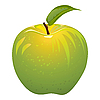 Vector clipart: juicy green apple