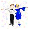 Векторный клипарт: маленькие танцоры