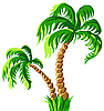 Two palm trees | Stock Vector Graphics