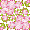 Vector clipart: square flower pattern