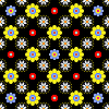 seamless floral pattern in bright saturated colors