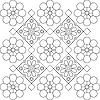 flower design elements black and white