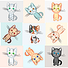 Vector clipart: background on cat theme