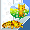 Vector clipart: winter dreams of cat