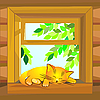 Vector clipart: cat on the windowsill