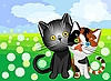 Vector clipart: cat love