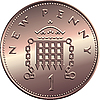 Vector clipart: British penny coin