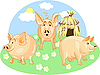 Vector clipart: three little pigs