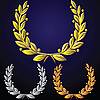 Vector clipart: set of laurel wreaths