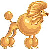 Vector clipart: Poodle dog
