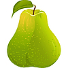 Vector clipart: green pear