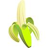 Vector clipart: peeled green banana