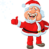 Vector clipart: happy Santa Claus shows that everything is fine!