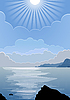 Vector clipart: sunny day at sea