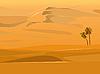사막의 풍경 | Stock Vector Graphics
