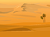 Vector clipart: desert landscape