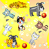 Vector clipart: pets pattern