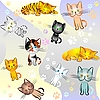 Vector clipart: cats pattern