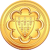 Vector clipart: French money ecu gold coin