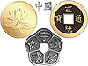 Vector clipart: set of Chinese coins