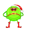 ID 3103662 | Cartoon round smiling green Christmas character | Stock Vector Graphics | CLIPARTO