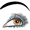 Векторный клипарт: красивый женский глаз