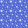 Seamless blue Christmas background of snoflakes | Stock Vector Graphics