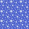 Векторный клипарт: бесшовные синий новогодний фон из снежинок