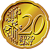 20 eurocent coin