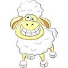 Vector clipart: cartoon happy funny ram