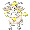 Cartoon funny goat smiling | Stock Vector Graphics