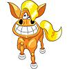 Vector clipart: cartoon happy funny horse