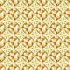 Vector clipart: seamless beige geometric pattern
