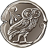 Vector clipart: ancient Greek drachma coin
