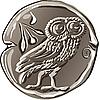ancient Greek drachma coin