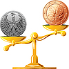 German mark versus the euro