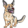 Dog German shepherd | Stock Vector Graphics
