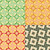 Vector clipart: set of seamless geometric patterns