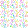 Easter seamless background with rabbits | Stock Vector Graphics