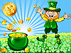 Leprechaun with pot full of gold | Stock Vector Graphics