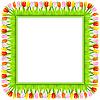 Векторный клипарт: квадратная рамка из красочных тюльпанов