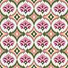 Векторный клипарт: бесшовный розовый цветочный узор