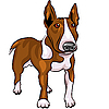 Cartoon Bull Terrier Hundezucht | Stock Vektrografik